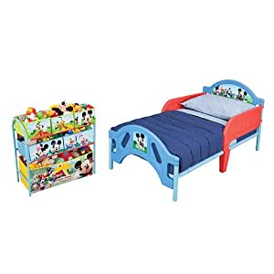 Buy Mickey Mouse Toddler Bed Plus Organizer Online At Low