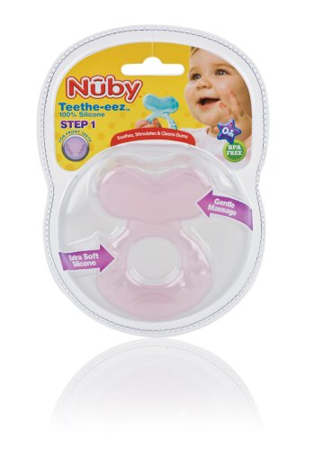 Nuby Silicone Teether with Bristles, Colors May Vary