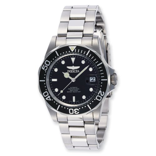 Mens Invicta Pro Diver Automatic Black Dial Watch