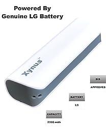 XYNUS RM-2200 mAh Power Bank with genuine LG Battery (White-Grey)
