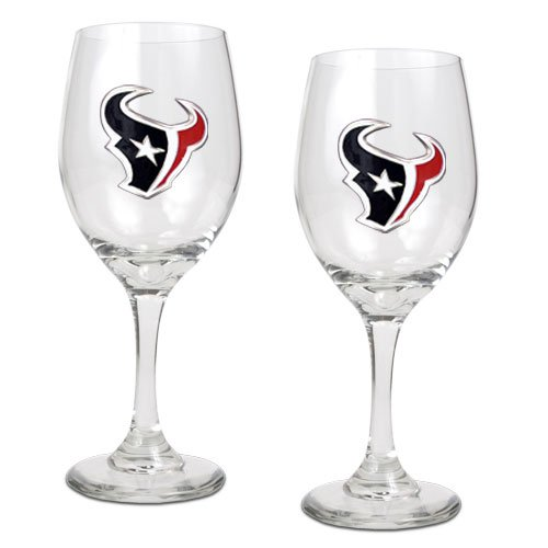 Nfl Houston Texans 14-Ounce Wine Glass (Set Of Two) back-594544