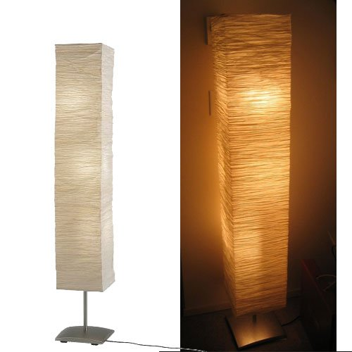 rice paper shade mood floor lamp with 6 bulbs. Black Bedroom Furniture Sets. Home Design Ideas