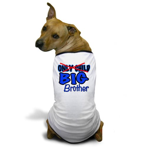 CafePress - New Big Brother Announcement Dog T-Shirt - Dog T-Shirt, Pet Clothing, Funny Dog Costume (Custom Dog Shirt compare prices)