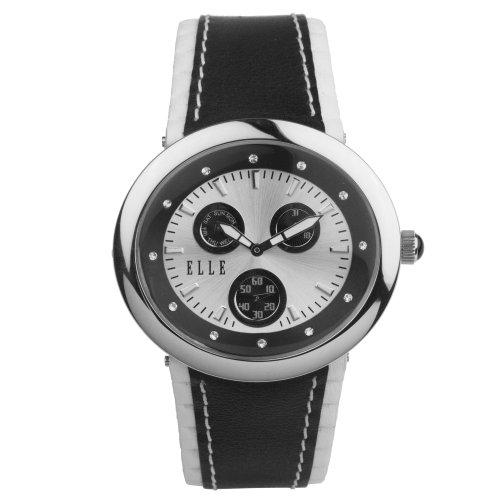 ELLETIME Women's TW000J9500 Black Leather Calendar Watch