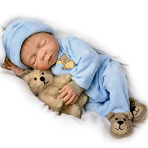 Sweet Dreams, Baby Jacob: So Truly Real 18-Inch Realistic Lifelike Baby Boy Doll by Ashton Drake