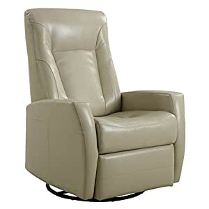 emerald home conrad leather swivel glider recliner small recliners