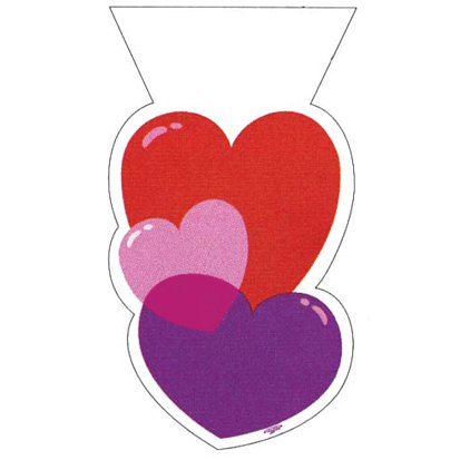 Heart Shaped Treat Bags 20ct - 1