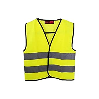 Baratec Yellow Hi Viz High Visibility Childrens Kids Vest Waistcoat - Ages 4-12 (Age 10-12 Chest 86-91cm)