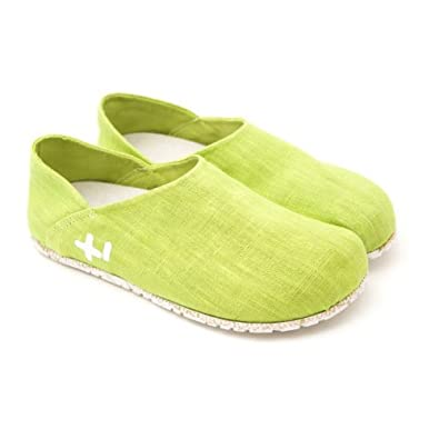 OTZ Shoes - Linen Slip-on 3702 - Chartruese - 35 EU (5 M US Women)