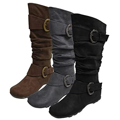 Brinley Slouch Boot with Fashion Buckle
