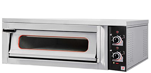 North Pro Gas FR73 Commercial Electric Pizza Oven with Fire Resistant Plate - 4 pizzas Ø360mm (230V-AC / 400V-2N-AC-50Hz) (Made in Greece)