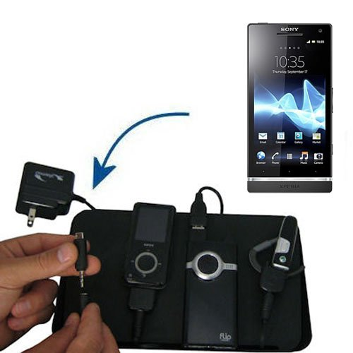 Unique Gomadic 4-Port Charging Station for the Sony Ericsson Xperia S - Charge four devices with TipExchange Technology