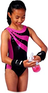 Pink and Black Sunfire Leotard (Adult Large)