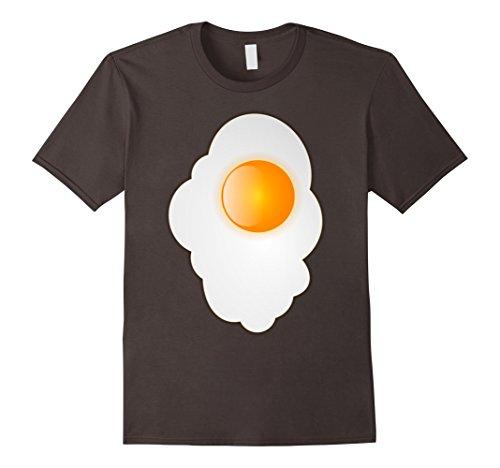 [Men's Fried Egg last minute funny Halloween costume tshirt 3XL Asphalt] (Easy Male Halloween Costumes Homemade)