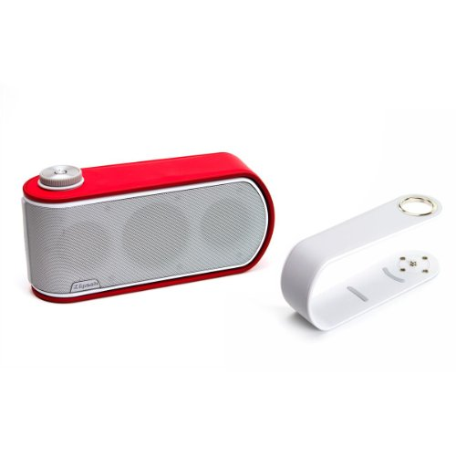 Klipsch Gig Portable Wireless Music System With Aptx Bluetooth And Additional Color Band (White Speaker With White And Red Color Bands)