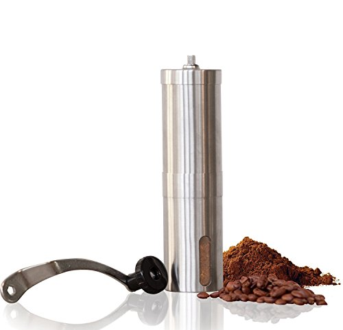 Top Rated Manual Coffee Grinder Maker Best Spice & Coffee Bean Grinder Stainless Steel Blades Adjustable Portable