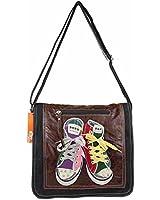 OBC ital-design Messenger Schultertasche mit Chucks CrossOver Bag Umhängetasche Tasche Shopper Henkeltasche Courierbag