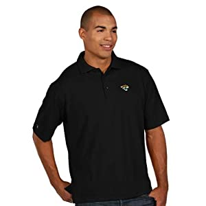 Jacksonville Jaguars Pique Xtra Lite Polo Shirt (Alternate Color) by Antigua