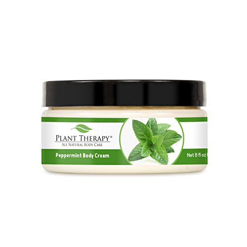 Peppermint Aromatherapy Body Cream, All Natural, Made With 100% Pure Essential Oils 8 Oz