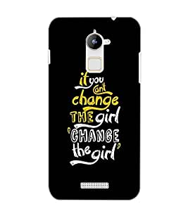 COOLPAD NOTE 3 LITE CHANGE THE GIRL TEXT Back Cover by PRINTSWAG