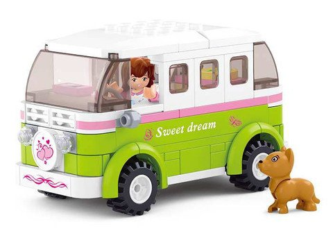 Sluban Girl's Dream Touring Wagon - 158 Pieces (Brand New in Original English Box) 100% LEGO Compatible - Educational Toy - Building Blocks (M38-B0523) (Selfie Stick Canada compare prices)