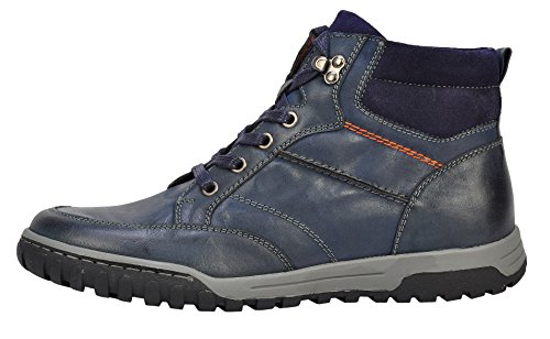 Serene Mens Stylish Lace-Up Round Toe Male Casual Leather Combat Boots