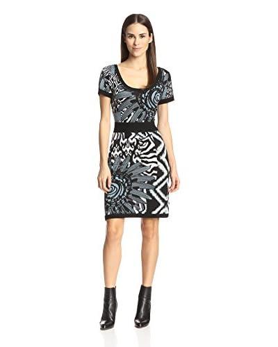 Desigual Women's Printed Sweater Dress  [Black]