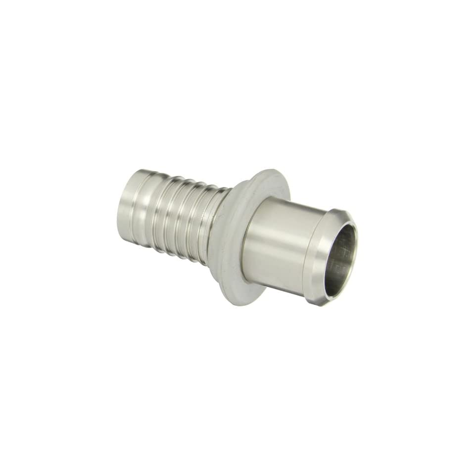 PT Coupling Progrip C50 Crimp System Series Stainless Steel 304 Hose Fitting, Adapter with Bumper, 1 1/2 Sanitary Bevel Seat Female