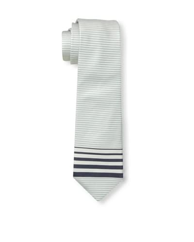 Valentino Men's Tip Stripe Tie, White/Blue