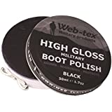 Web-Tex High Gloss militaire Boot Polish Noir