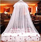 モスキートネット お姫様ベット レース 天蓋カーテン 蚊帳にもなる♪ ホワイト