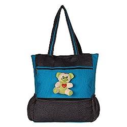 Glory Fashion Women's Stylish Taddy Handbag Black&Green-GF-229