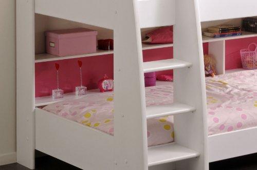 Etagenbett Weiß Für Kinder : Steens for kids etagenbett weiß mit rolllattenrost und gerader