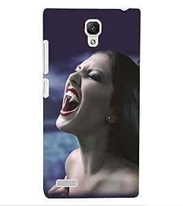 ColourCraft Vampire Girl Design Back Case Cover for XIAOMI REDMI NOTE 4G
