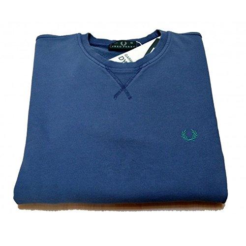 Felpa girocollo Uomo Fred Perry 30442348 0149 - Colore - Blu, Taglia - M