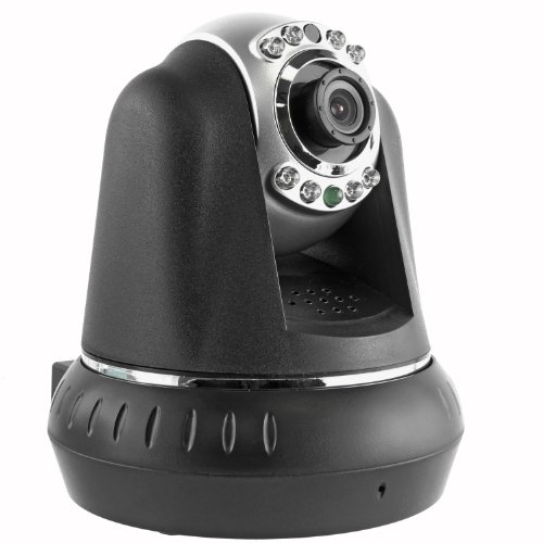 Cavalry IPC10010 Pan & Tilt High Resolution Indoor Wireless IP/Network Camera (Black) - Compatible with Android and iOS picture