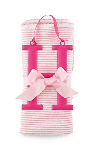 Mud Pie Cotton Receiving Blanket, H/Pink - 1