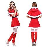 Tsuneo屋 サンタ コスプレ レディース クリスマス サンタ 衣装 3点セット 全6サイズ (XXXL, タイプB)