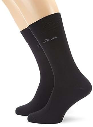 s.Oliver Unisex - Erwachsene Socke 2 er Pack, S20001, Gr. 39-42, Schwarz (05 black)