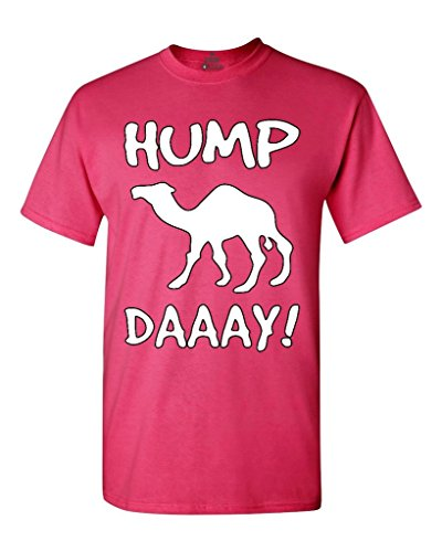 Shop4Ever® Camel Commercial Hump Day! T-shirt Funny Shirts XX-LargeHeliconia Pink 0