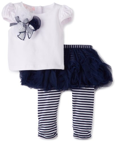 Save Price Biscotti Baby-Girls Infant Ship Shape Top, White, 12 Months