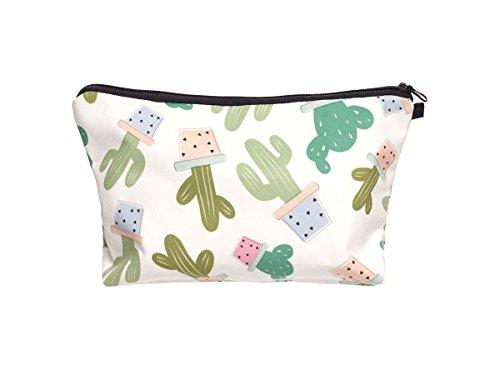 Beauty Case, borsa da viaggio, borsetta da toilette sacco sacchetto bagno per cosmetici trucco make up motivi diversi, Kosmetiktasche KT-002-050:KT-019 cactus