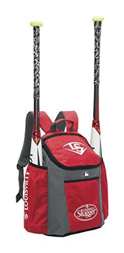 Louisville Slugger EB Series 3 Stick Pack Baseball Equipment Bags, Scarlet