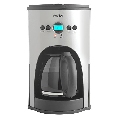 Programmable Coffee Maker With Reusable Filter : VonShef High Quality Fully Programmable Digital Filter Coffee Maker with Permanent Reusable ...