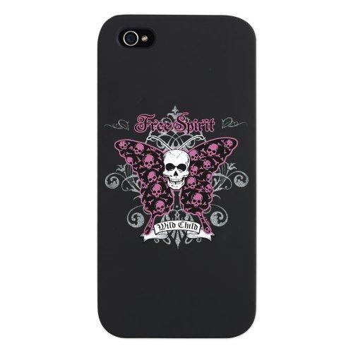 iPhone 5 Case Black Butterfly Skull Free Spirit