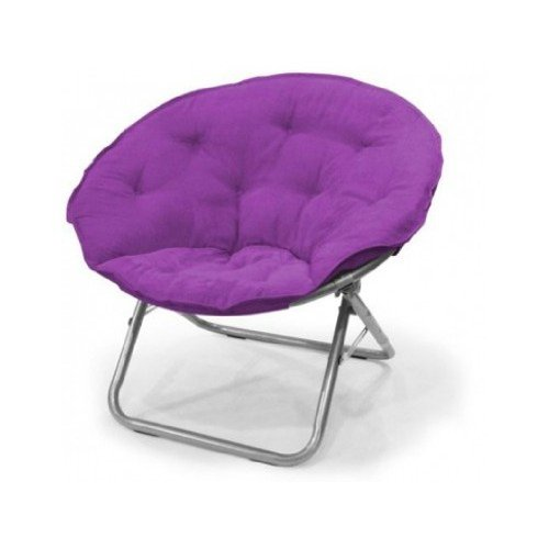 Large polysuede moon chair purple by mainstays for Papasan moon chair