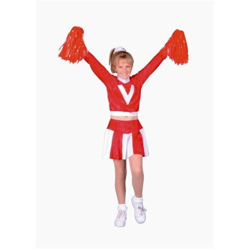 RG Costumes 91135-S Red Velvet Cheerleader Costume - Size Child-Small