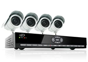 SVAT CV301-8CH-002 8-Channel H.264 Smart DVR Complete Surveillance System (Includes 4 Indoor/Outdoor High-Resolution CCD Night-Vision Cameras)