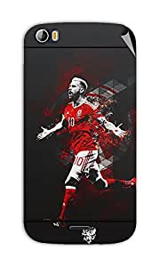 Miicreations Mobile Skin Sticker For Micromax canvas doodle-2-A-240,Football Player