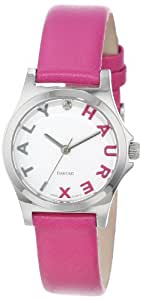 Haurex Italy Women's 6A505DPP Diamond-Accented Mini City Pink Leather  Watch